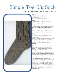 Simple Toe-Up Socks PDF